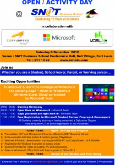 Open/Activity Day with Compuspeed, Microsoft and Mobilink